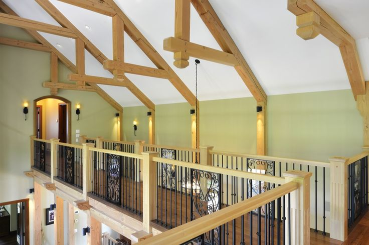 Timber Frame Accent in our Spruce Meadows  Home #TimberFrame #Log #Custom #Accent #SpruceMeadows #DiscoveryDreamHomes