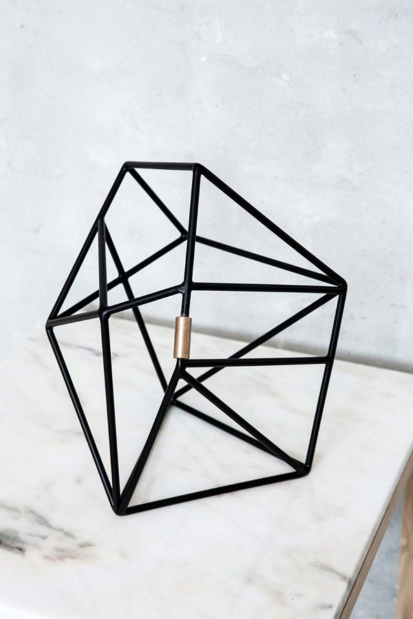 Geometric sculpture by Kristina Dam