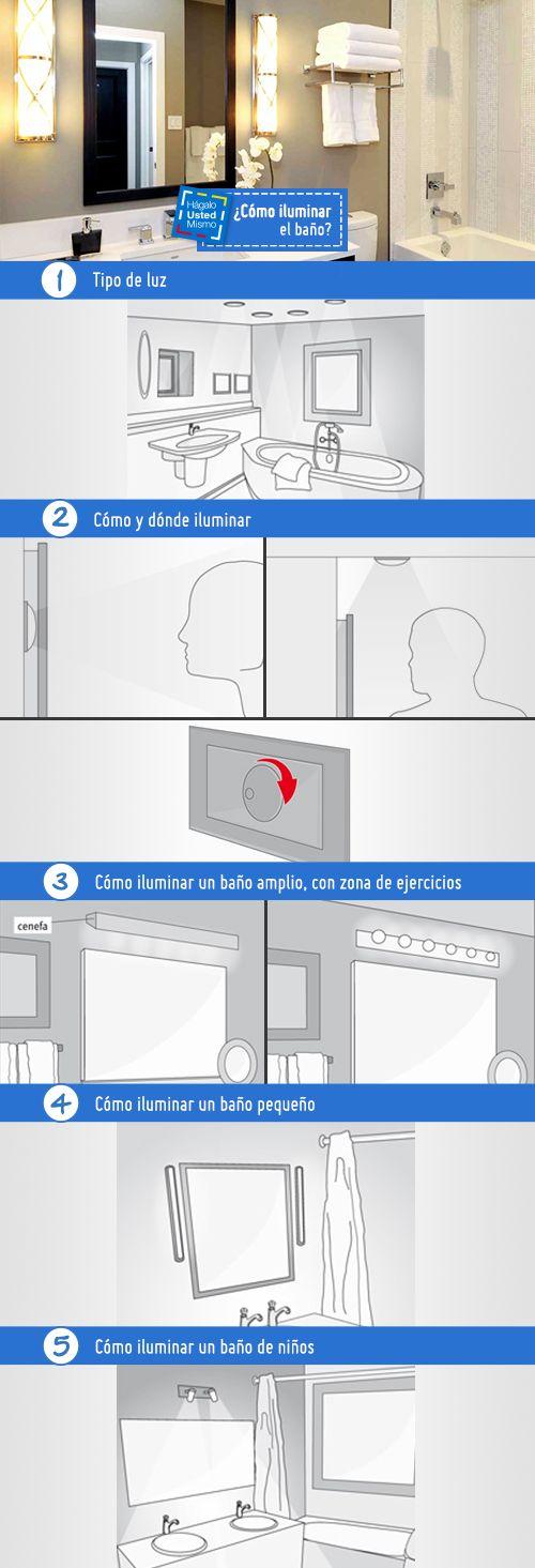 La iluminación en el baño debe ser eficiente para lograr una cómoda rutina diaria frente al espejo. ¡No te pierdas este #HágaloUstedMismo! #HUM