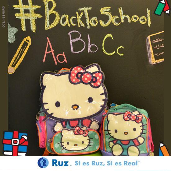 ¡Listos para empezar un nuevo año? ¡Corre por tus mochilas #Ruz de Hello Kitty porque se acaban!   #SiEsRuzEsReal #BackToSchool #Kids #HKyYo
