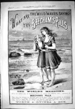 Scena Antica della Spiaggia del Costume da Bagno di 1887 della Pubblicità di Beechams Signore delle Pillole: Amazon.it: Casa e cucina