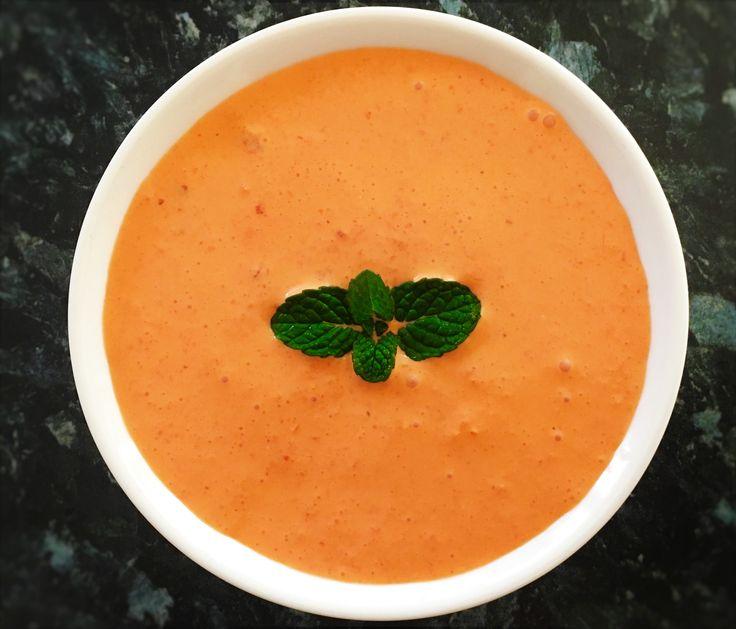 Roasted Capsicum & Sour cream dip - SpicyTamarind