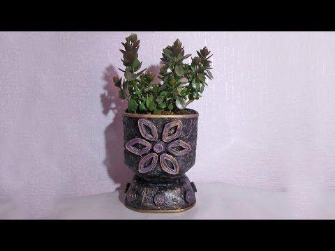 Кашпо-цветочный горшок из пластиковой бутылки - YouTube