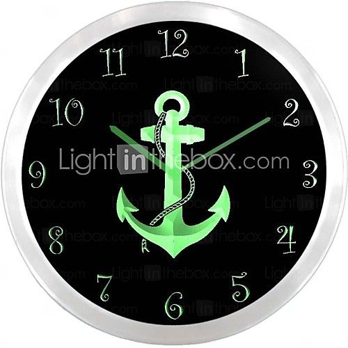 nc0996 Nautisk Sea Ship Decor neonskilt LED vægur | LightInTheBox