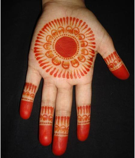 beautiful mehndi design - henna palm