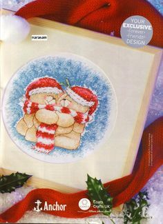 Forever Friends Hug Away the Winter The World of Cross Stitching Issue 103 November 2005 Saved