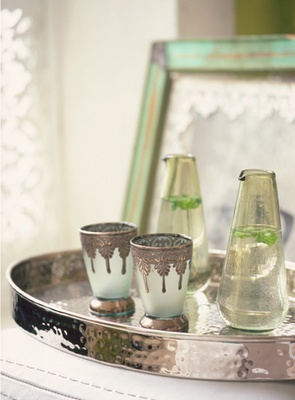 Tray and Turkish cups