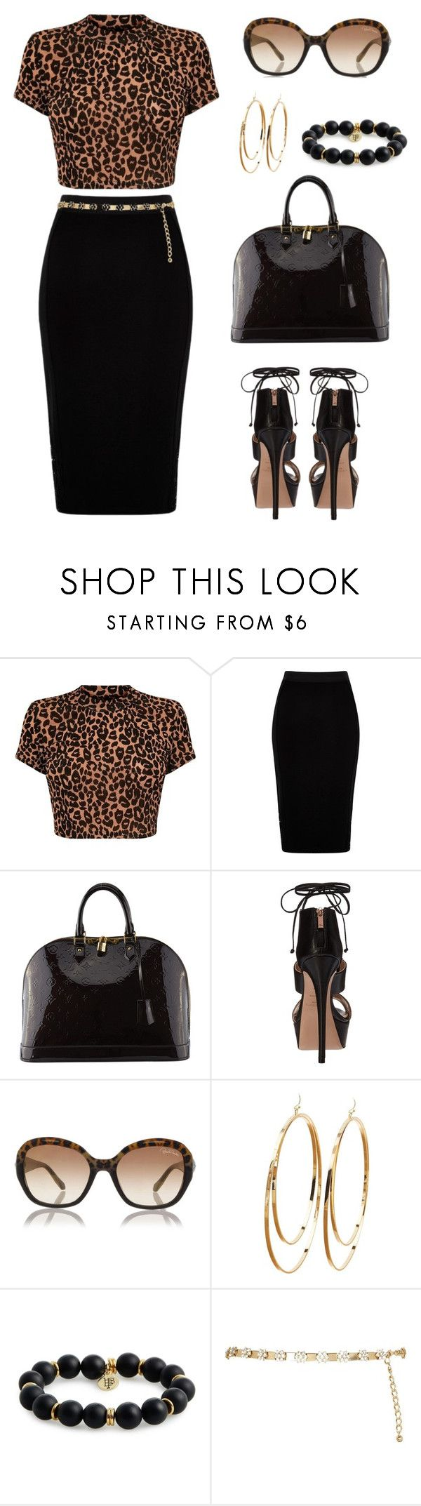 """Untitled #1443"" by gallant81 ❤ liked on Polyvore featuring River Island, Louis Vuitton, Ruthie Davis, Roberto Cavalli, Charlotte Russe and Bourbon and Boweties"