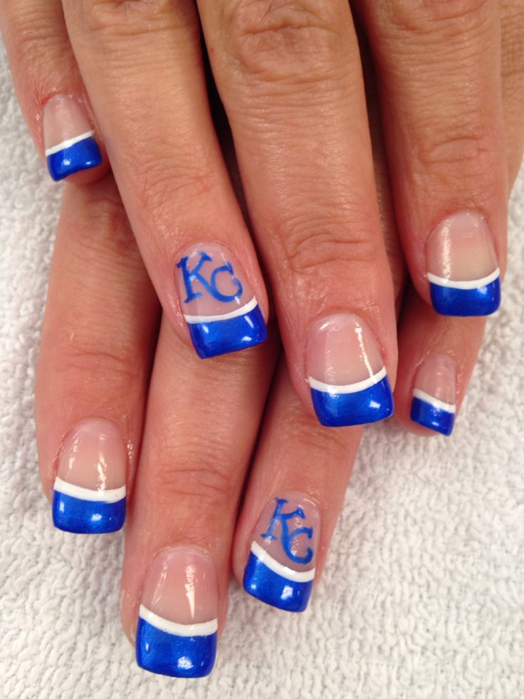 Kansas City Chiefs inspired nails | Nail designs | Pinterest ...