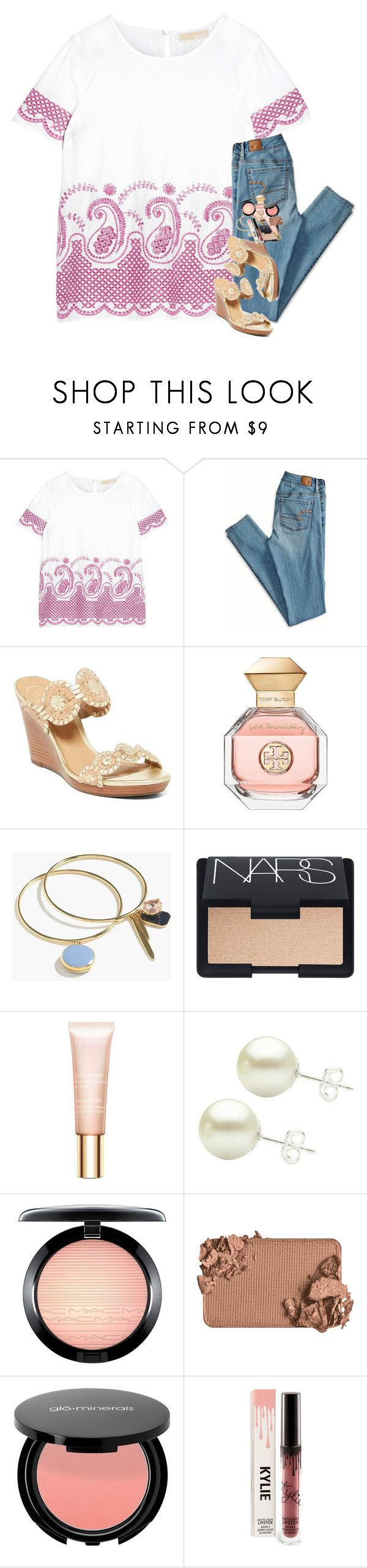 """""""do your best and let God do the rest"""" by hailstails ❤ liked on Polyvore featuring MICHAEL Michael Kors, American Eagle Outfitters, Jack Rogers, Tory Burch, J.Crew, NARS Cosmetics, Clarins, MAC Cosmetics and Too Faced Cosmetics"""