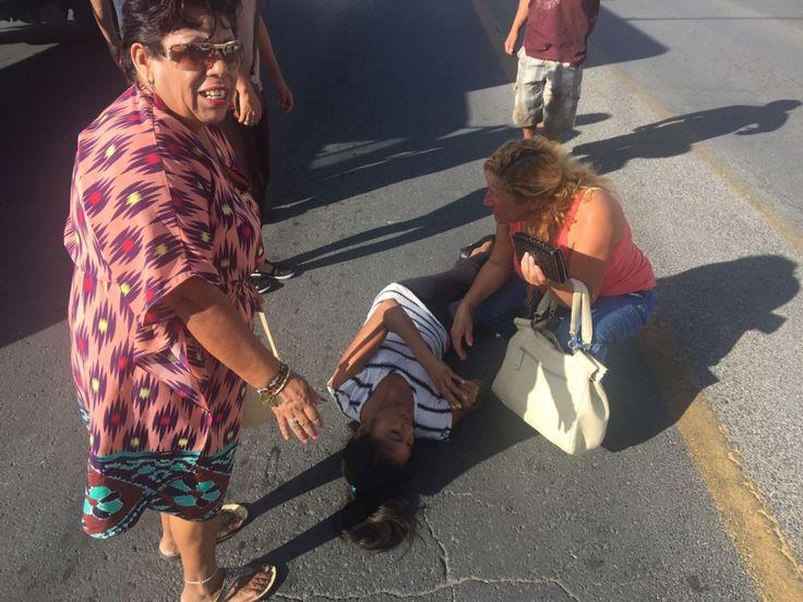 Queda lesionada mujer al ser atropellada en la avenida Flores Magon | El Puntero