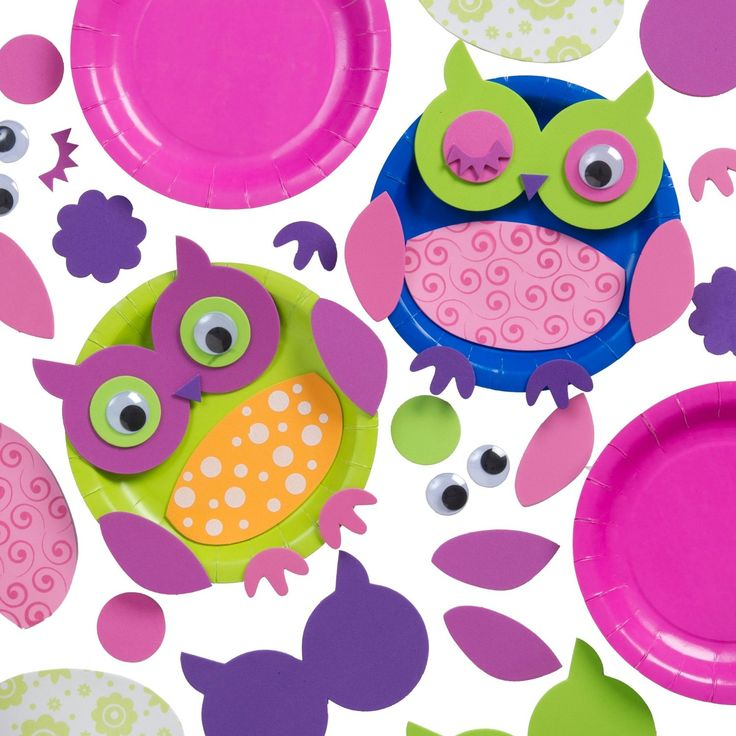 Owl Plates Craft Kit