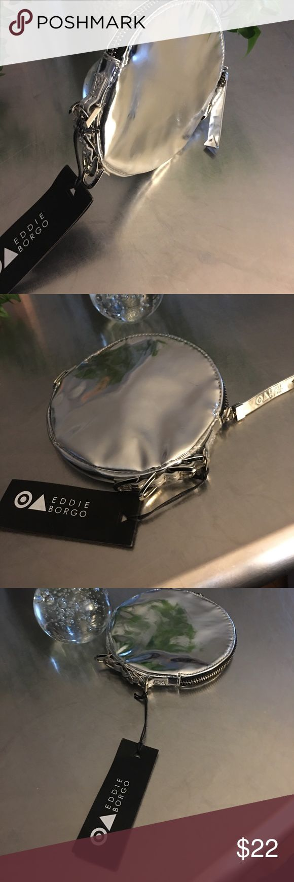 Eddie Borgo Geometric Metallic Clutch/ NWT Edgy Circular Clutch Bag/ NWT Eddie Borgo Bags Clutches & Wristlets