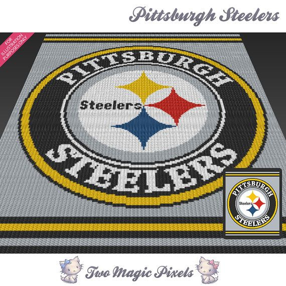 Pittsburgh Steelers c2c graph crochet pattern by TwoMagicPixels
