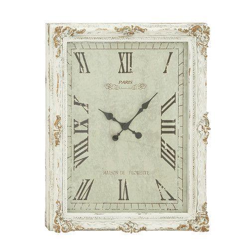 Found it at Wayfair - Rectangular Wood Wall Clock