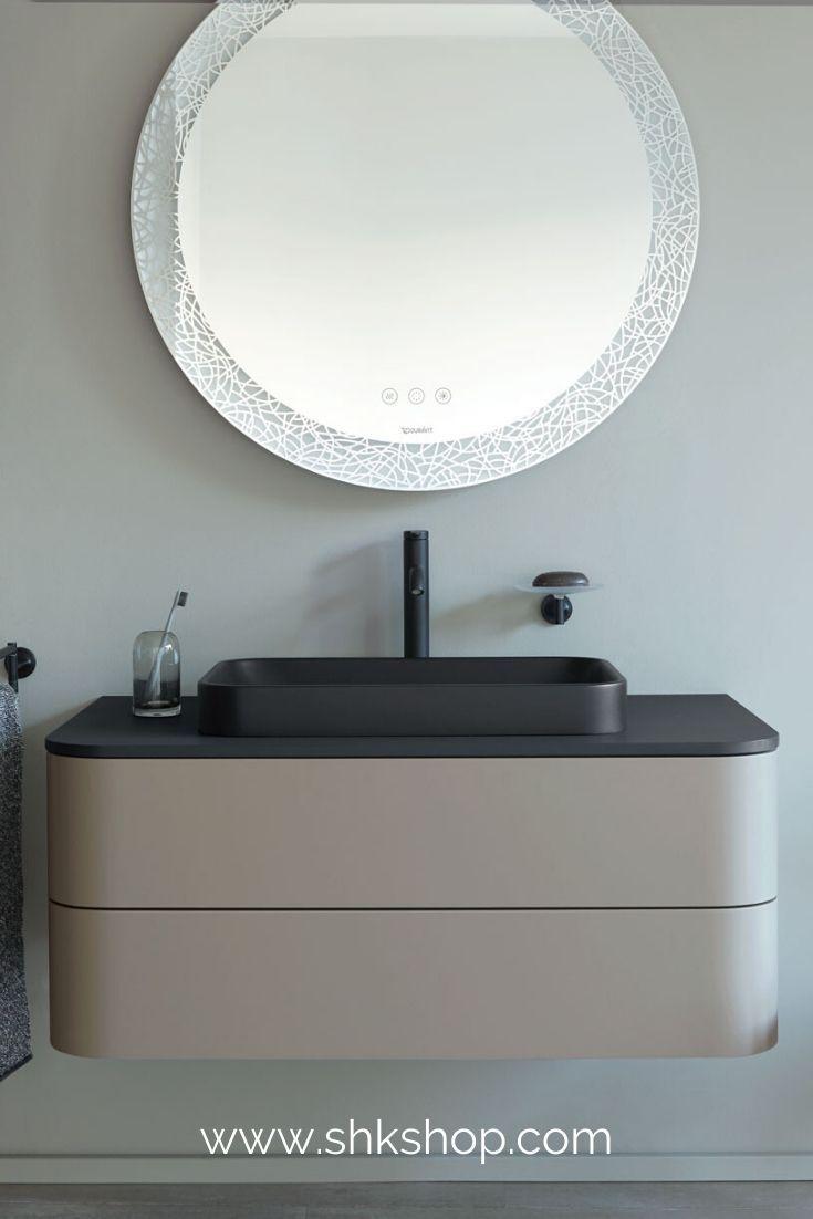 Duravit Happy D 2 Plus Spiegel Mit Beleuchtung Hp7486 900x55 Mm Icon Version In 2020 Badezimmer Trends Runde Badezimmerspiegel Duravit
