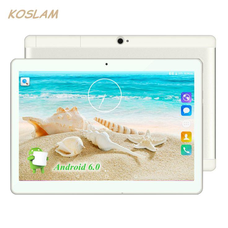 "2017 New Android 6.0 Tablets PC Tab Pad 10 Inch IPS 1280x800 Quad Core 1GB RAM 16GB ROM Dual SIM Card 3G Phone Call 10"" Phablet"