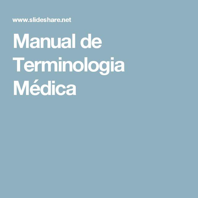 Manual de Terminologia Médica