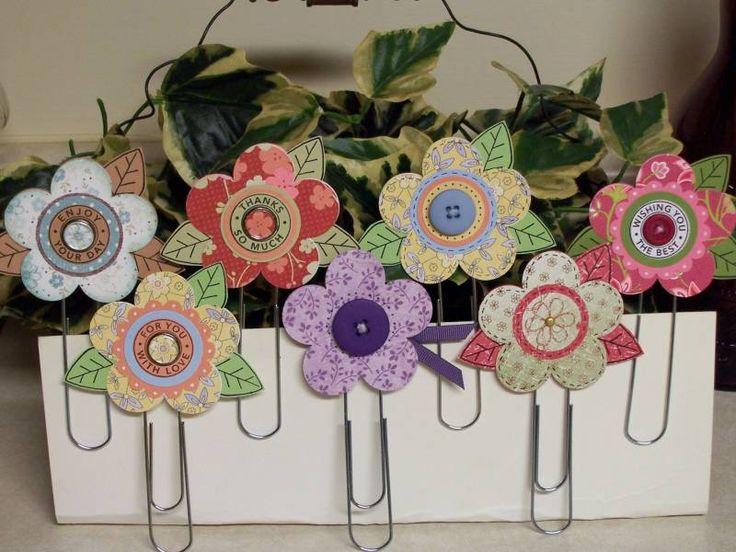 Clips de flores de papel!