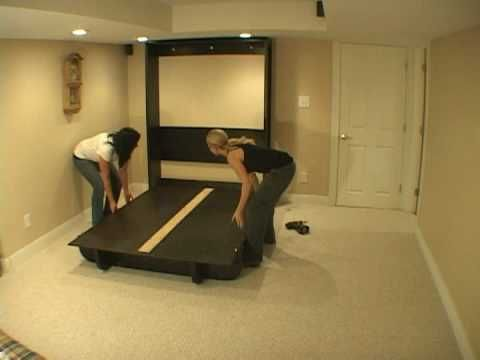 Build a wall/Murphy bed (Lori in this case) without a lifting mechanism!!!