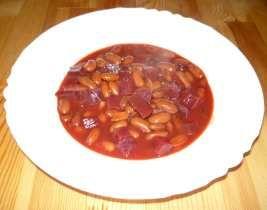 Fazolový guláš s červenou řepou, recept na fazolový guláš s červenou řepou