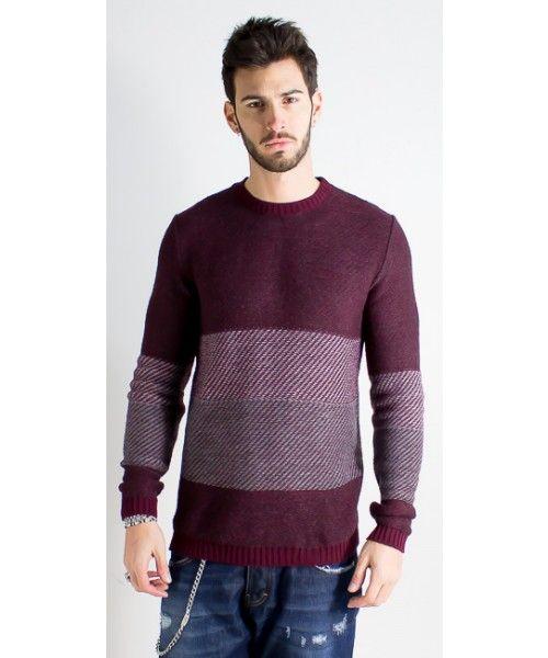 Maglione bicolor dalla vestibilità regolare - BL.11