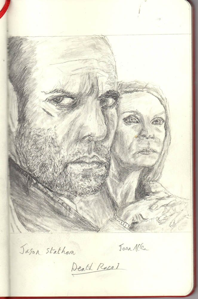 Jason Statham and Joan Allen in Death Race 1