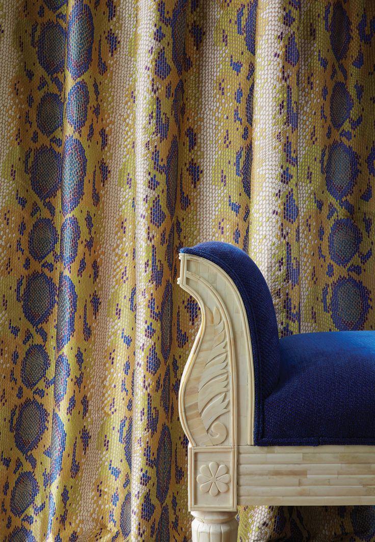 Chandor Naga fabric - Lorca at @osbornelittle - available from Rodgers of York #interiors #fabric