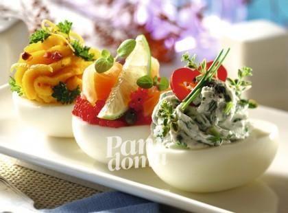 Jajka faszerowane pastami