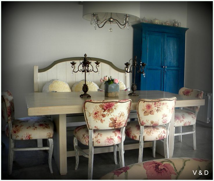 Vintage style #vintage #flowers #dinningroom #antique #deco #decoracion