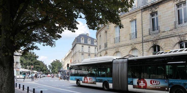 Bordeaux : moins de bus place Gambetta.