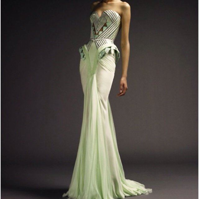 Gorgeous lime green gown