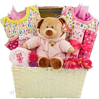 40 best baby gift baskets images by pacific basket company on snuggle bear baby girl gift basket vancouver negle Image collections