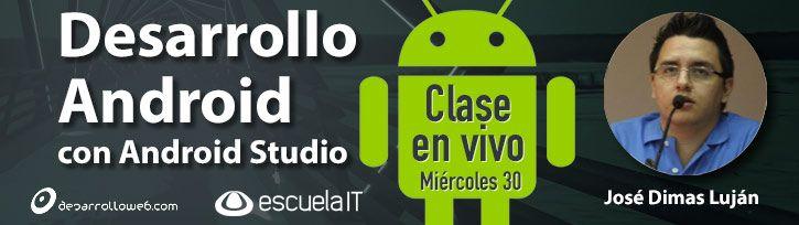 En la clase de hoy dedicada a Android Studio podrás conocer el desarrollo nativo con Java y el IDE oficial de Google: http://www.desarrolloweb.com/en-directo/clase-desarrollo-android-studio-9001.html