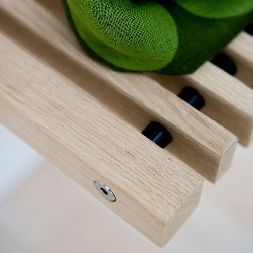 Verbindung zwischen den Holzleisten bei Garderobe, Kleiderleiste und Klappsitz