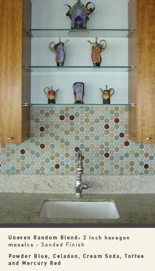 Design Inspiration: The Best of Hex | Hexagon backsplash