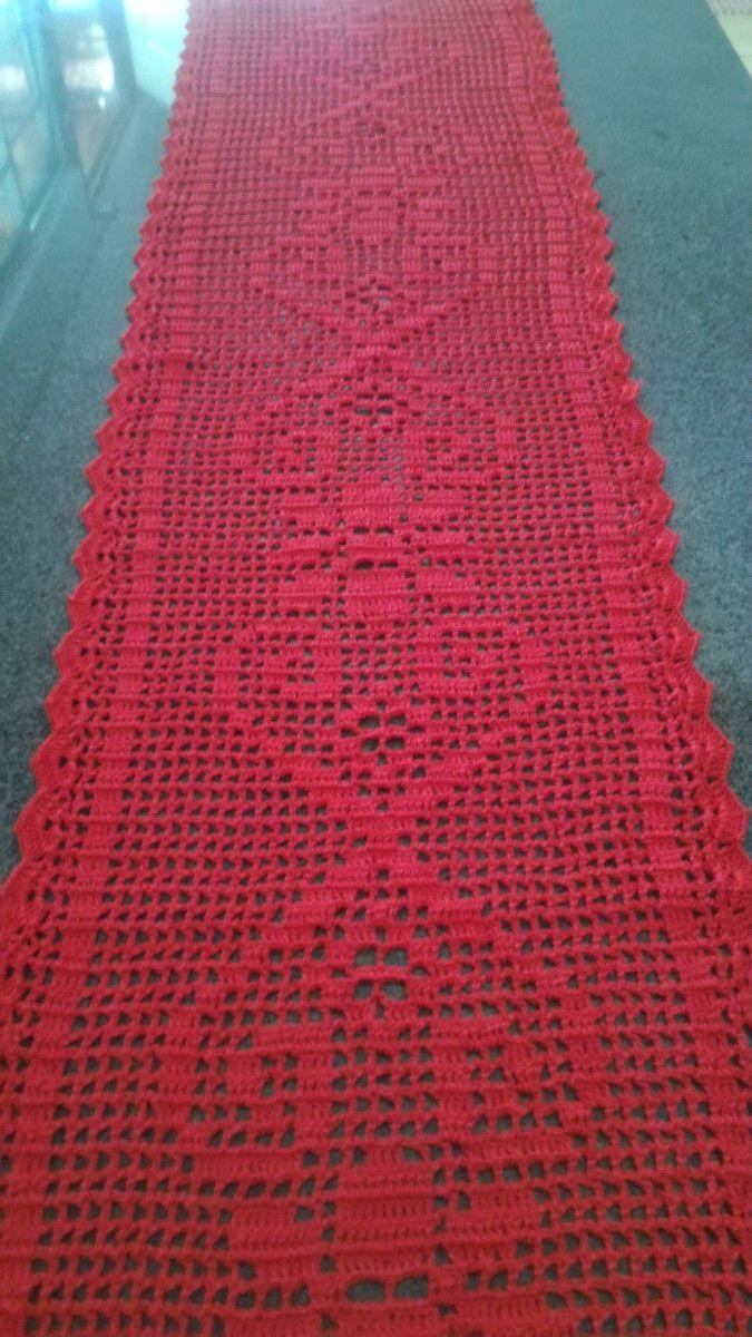 caminho-de-mesa-de-croche-vermelho-vermelho.jpg (675×1200)