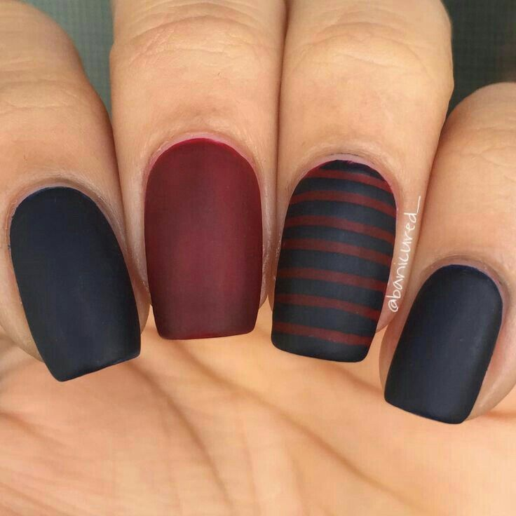 Don't really like this mani, but I love the colors, and that they're so matte.