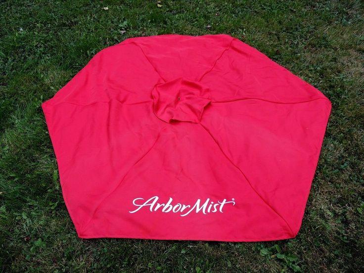 ARBOR MIST  Wine Advertising Red PATIO UMBRELLA ~ Fabric Only   eBay