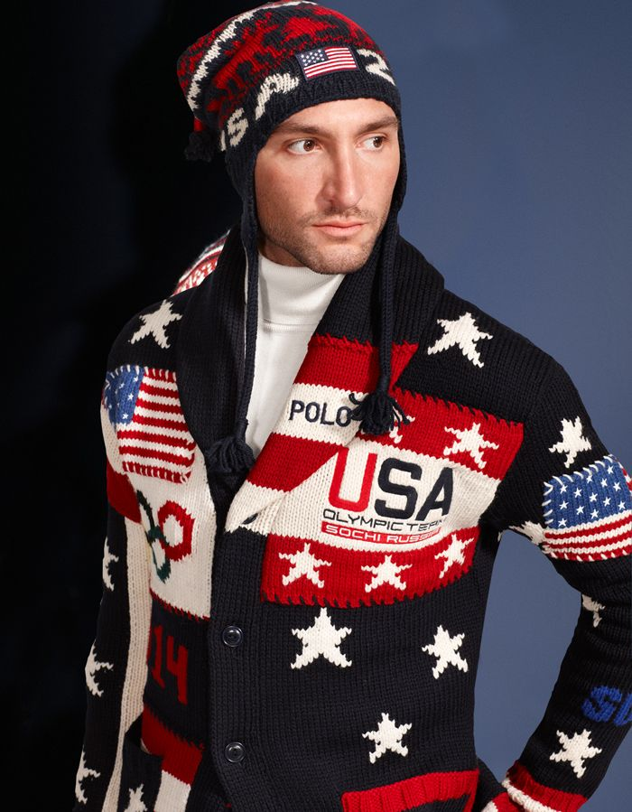 Ralph Lauren 2014 Olympics Cardigan. See more. The RL Style Guide  demonstrates how to wear the official Team USA Opening Ceremony Sweater with
