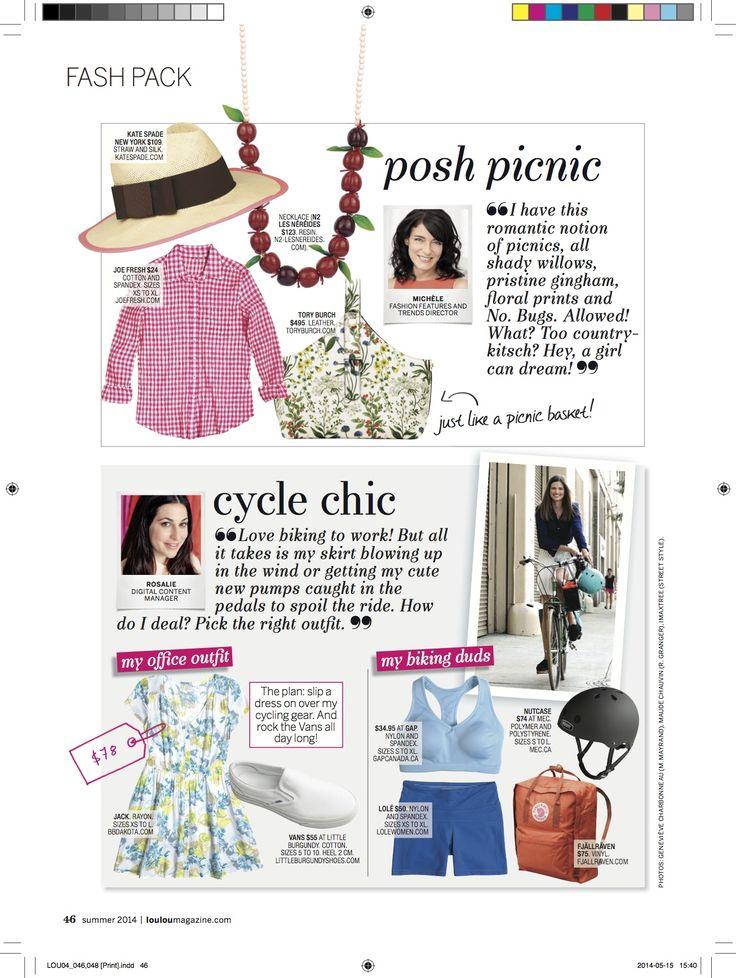 "Our ""Drôles de Fruits"" necklace in Loulou Magazine"