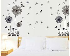 w128 pusteblume wandtattoo schlafzimmer lwenzahn deko romantisch schmetterlinge