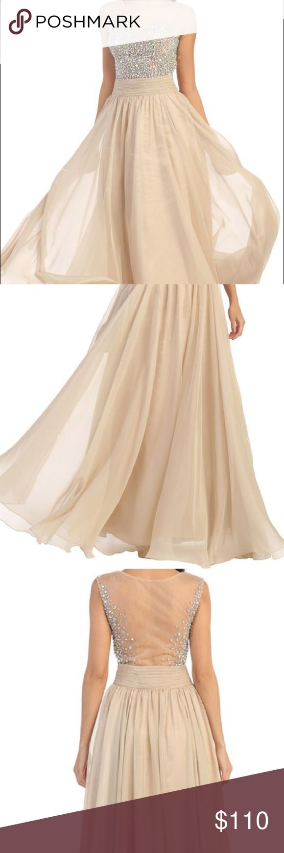Champagne prom dress Sparkle prom dress Dresses Prom
