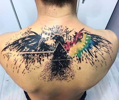 Pink Floyd ink Eagle by Bytayfun