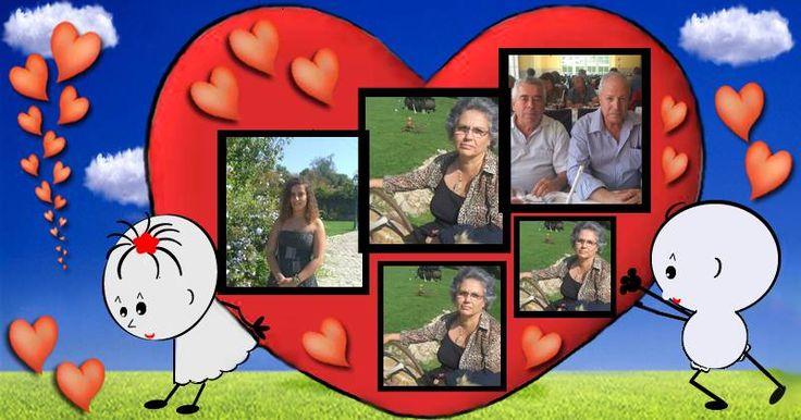 Linda montagem de coração com 5 fotos