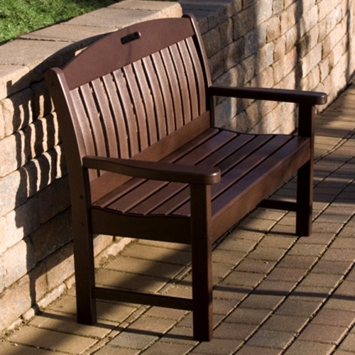 Poly Wood Nautical 48 In Bench Comfortable Seats Two. This Handsome Outdoor  Recycled Poly