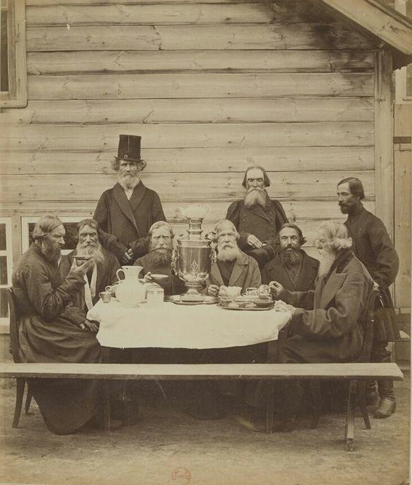 1878 год. Фотограф Иван Раульт Тверские купцы