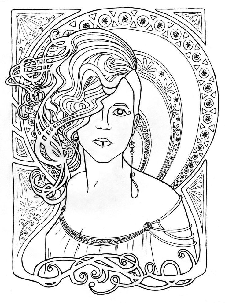 art deco coloring pages - photo#26