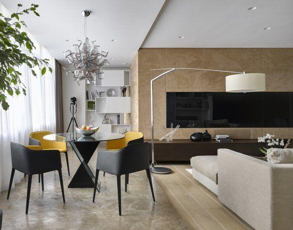 modern lakás természettel harmonizáló anyagok / Modern Dining