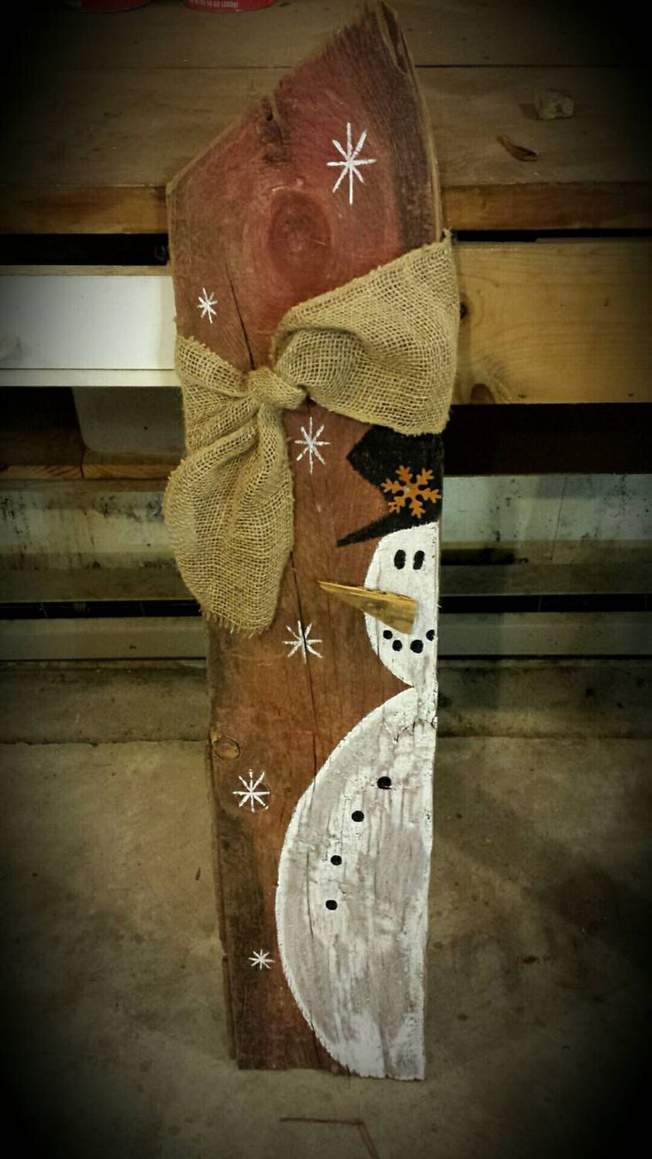Wood Snowman Wooden Snowmen winter porch by FlawedtoFabulous